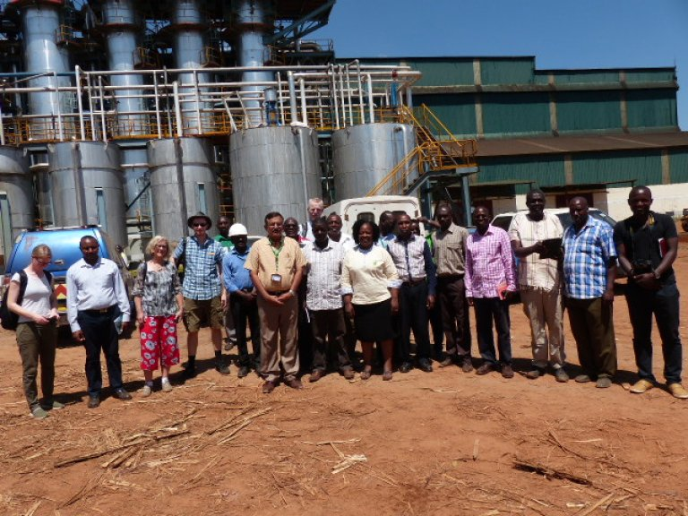 Biofuel4Kenya research team at Sukari sugar mill.JPG